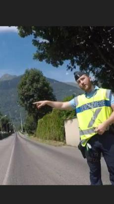 I'm generally a law abiding person. unfortunately, if I'd stopped and pulled over when the gendarme told me to, I'd have had to wait for several hours in the sun with no food or water. I was only a couple of ks away from my hotel, so I fought the law and I won.