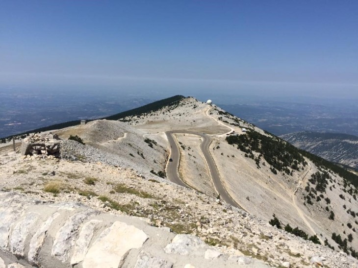 The moonscape view from near the top of Ventoux